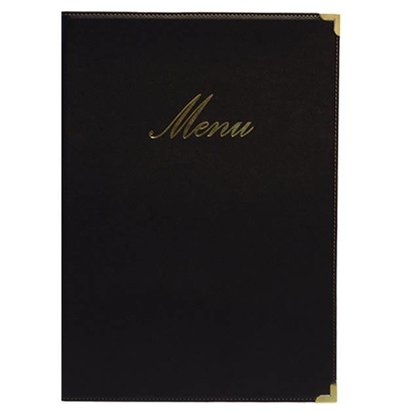 Securit Classic menu folder - Black A4