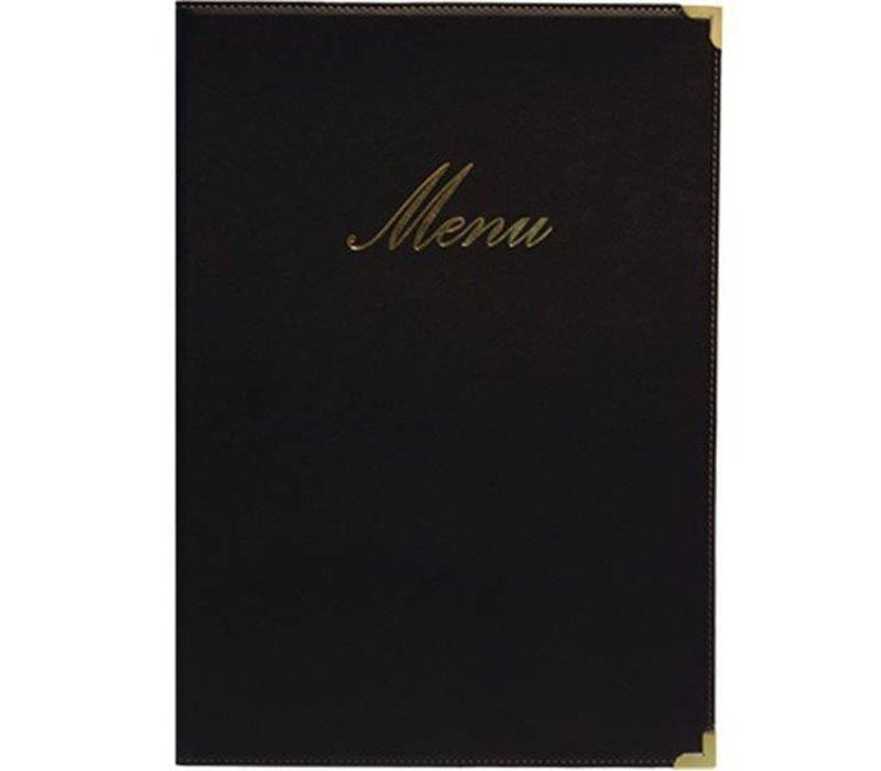 Securit Classic menu folder - Black A4
