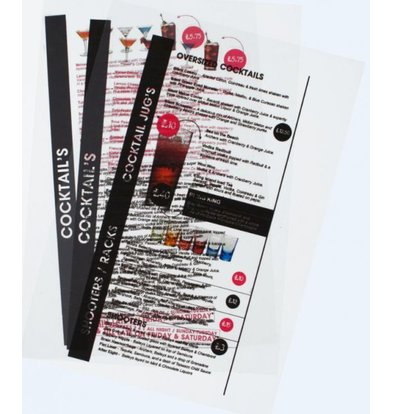 Securit Inserts LED Menu - Inkjet - Per 20 pieces