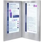 Securit Menukaart met LED verlichting - DOUBLE LONG - Zilver - BEKIJK VIDEO