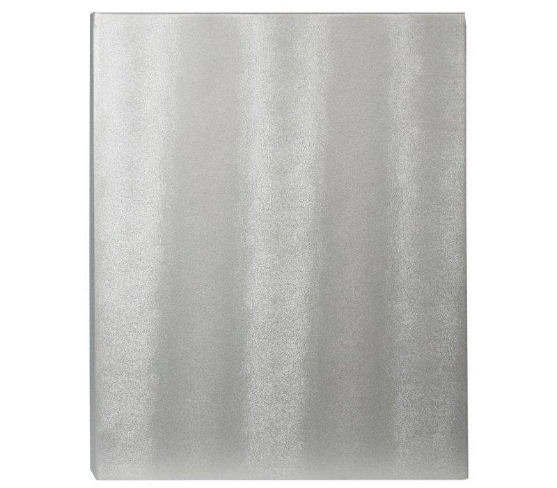 Securit Menü mit LED-Beleuchtung - DOPPEL LONG - Silber