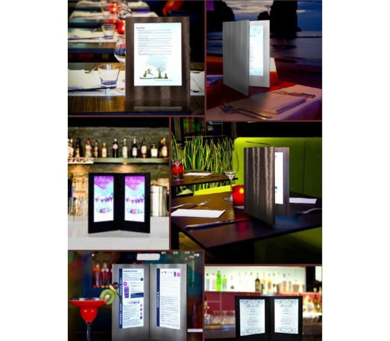 Securit Menu with LED lighting - SINGLE A4 - Copper