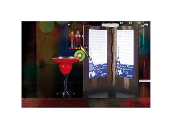 Securit Menu with LED lighting - DOUBLE LONG - Copper