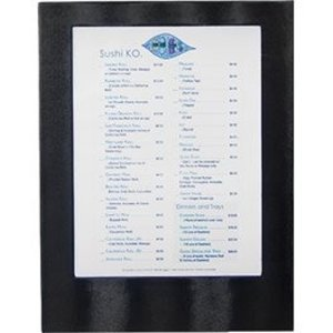 Securit Menu with LED lighting - SINGLE A4 - Black