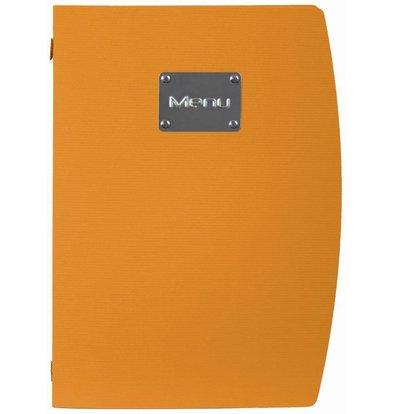 Securit Menu Rio - Orange A4 - UMWELTFREUNDLICH