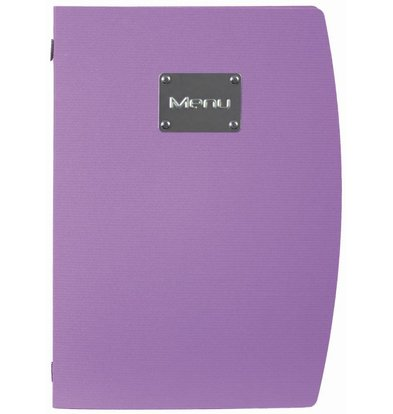 Securit Menu Rio - Purple A4 - ECO FRIENDLY
