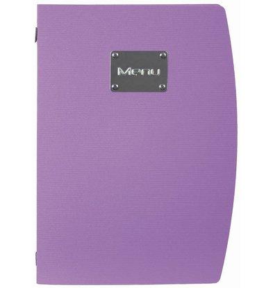 Securit Menu Rio - purple A4 - UMWELTFREUNDLICH
