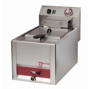 Diamond Fritteuse | 8 Liter | Mit Ablassventil | Kalte Zone | 3kW | 330x600x (H) 290mm