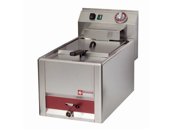 Diamond Electric Fryer | 8 Liter | With drain valve | Cold Zone | 3kW | 330x600x (H) 290mm