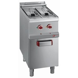 Diamond Friteuse | Elektrisch | 2 x 7 Liter | 400-230V | 10,5 kW | Onderstel | 400x700x(h)850-920