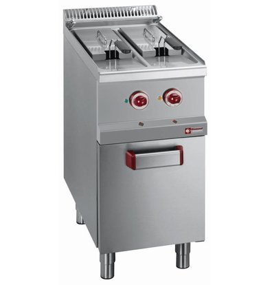 Diamond fryer | electric | 2 x 7 Liter | 400-230V | 10,5 kW | chassis | 400x700x (h) 850-920