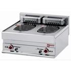 Diamond Fryer Ladungsdoppel SS | 10 Liter | Tischplatte | 400V | 15kW | 700x650x (H) 280 / 380mm
