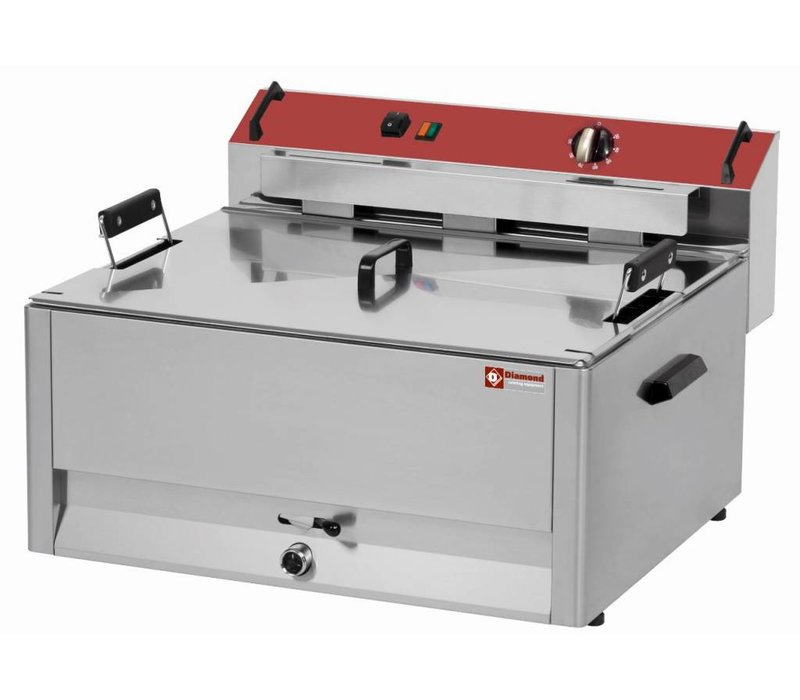 Diamond fryer | electric | Cold Zone | Bakery Fish and Oliebollen | 30 liter | 400V | 9kW | 670x650x (H) 370mm