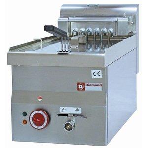 Diamond Friteuse Elektrisch | 10 Liter | Aftapkraan | Koudezone | 400V | 7,5kW | 300x600x(H)280/400mm