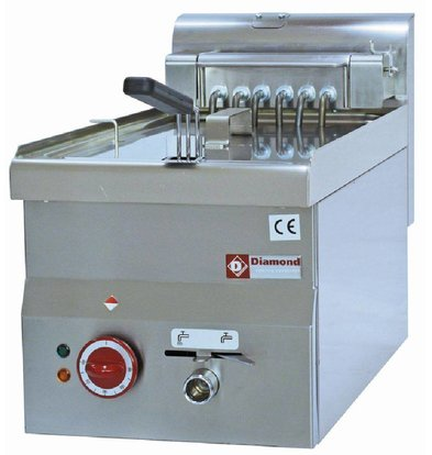 Diamond Electric Fryer | 10 Liter | Drain valve | Cold Zone | 400V | 7.5kW | 300x600x (H) 280 / 400mm
