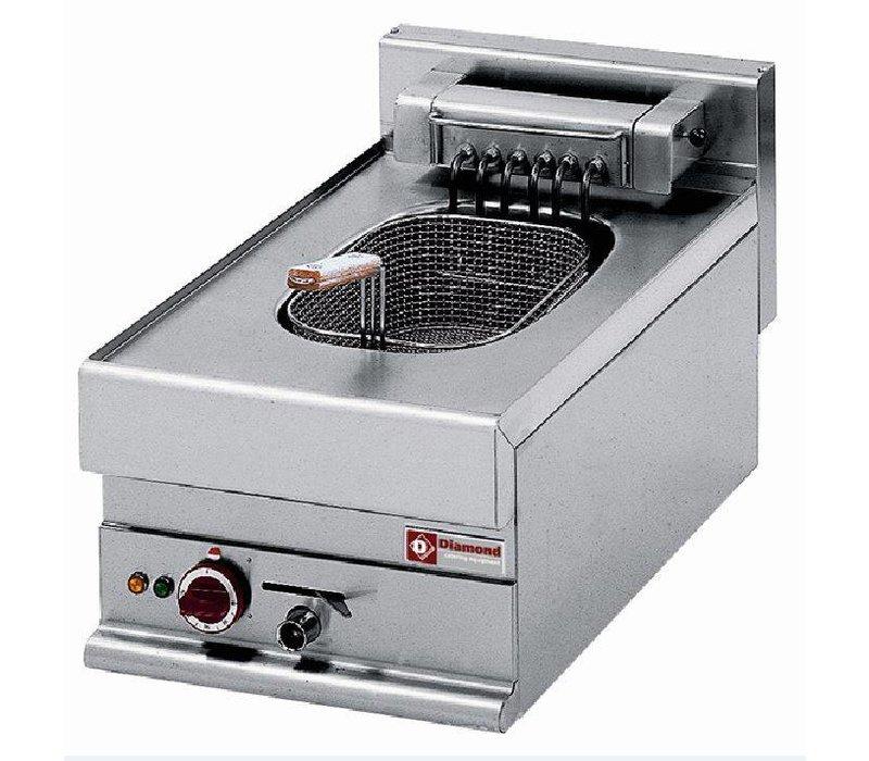 Diamond Fritteuse | 10 Liter | Ablassventil | Kalte Zone | 400V | 7,5 kW | 400x650x (H) 280 / 380mm