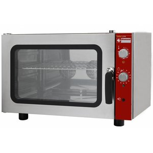 Diamond Hot air oven with steam function - 825x685x560 (h) mm - for 4 x 2/3 GN