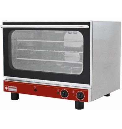 Diamond Convection Oven Stainless Steel - 725x670x600 (h) mm - 4x 600x400 mm
