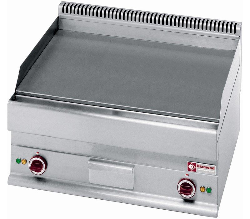 Diamond Fry Top Electric - Gusseisen - völlig glatt - 70x65x (h) 28 / 38cm