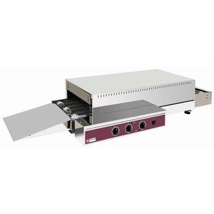 Diamond Conveyor furnace Electric - 400v - 121x60x (H) 26 / 32cm - 6000W