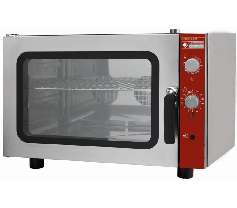Diamond Hot air oven with steam function - 825x685x560 (h) mm - 4x 600x400mm