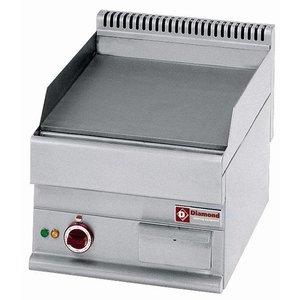 Diamond Fry Top Electric - Glatte Tischplatte - 395x520mm - 400 V / 4 kW