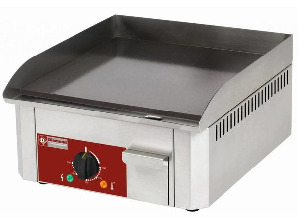Diamond Enamelled electric griddle - smooth - 40x45x (h) 19cm - 3kW
