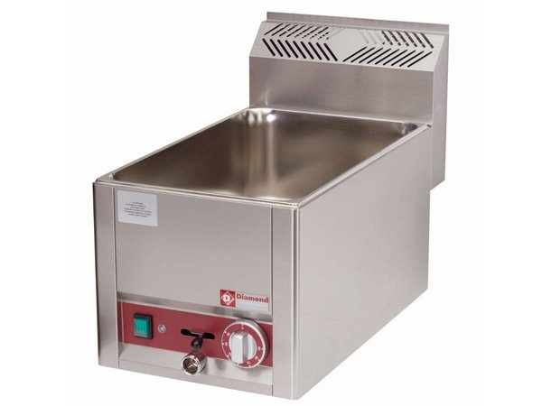 Diamond Bain Marie   Stainless steel   1/1 GN   Drain valve   Tabletop Stamped