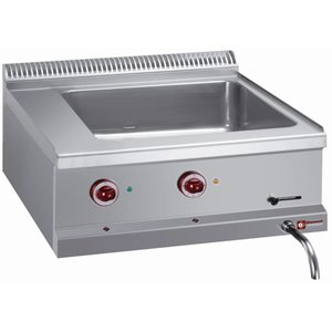 Diamond Bain Marie | 2 / 1GN | Drain valve | Tabletop | 630x510x (H) 160mm
