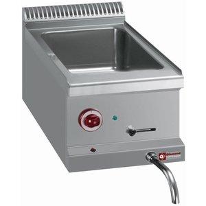 Diamond Bain Marie   Stainless steel   1 / 1GN   Drain valve   Tabletop   310x510x (H) 160mm