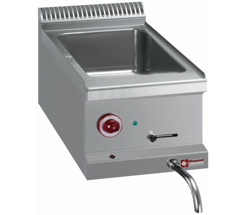 Diamond Bain Marie | Stainless steel | 1 / 1GN | Drain valve | Tabletop | 310x510x (H) 160mm