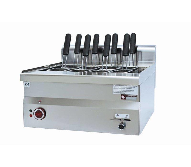 Diamond Pastakoker Elektrisch RVS | 30 Liter | Tafel model | 400V | 9kW | 600x600x(H)280/400mm