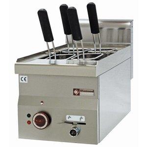 Diamond Nudelkocher Elektro Edelstahl | 14 Liter | Tischplatte | 230 | 245x370x190mm