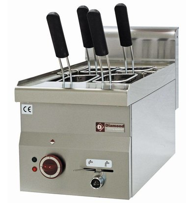 Diamond Nudelkocher Elektro SS | 14 Liter | Tischplatte | 230 | 245x370x190mm