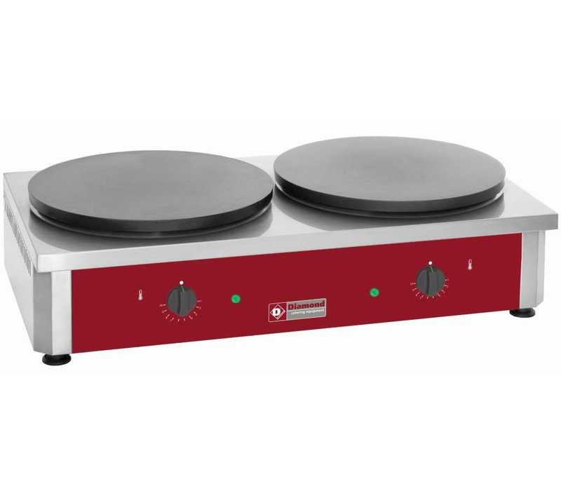 Diamond Doppel Crepes Machine | 7,2 kW | Crepes 120 p / h | 40 cm Durchmesser