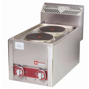 Diamond Electric stove | 2 Pits | Tabletop | Stainless steel | 2x 2 kW