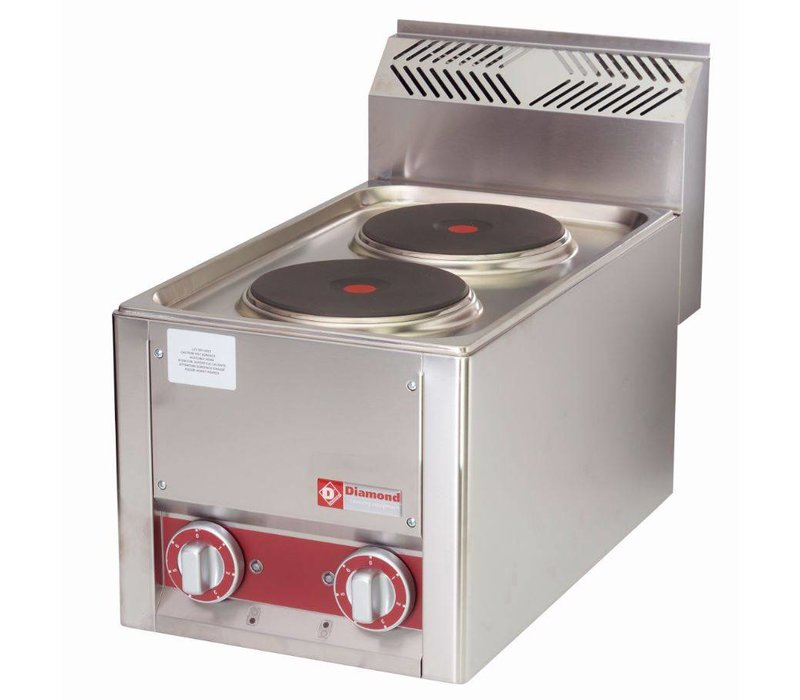 Diamond Electric Stove   2 Pits   Tabletop   Stainless Steel   2x 2 KW