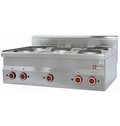 Diamond Electric stove | Stainless steel | 2 kw | 5 Pits | Tabletop | 400V - Ø 180 mm