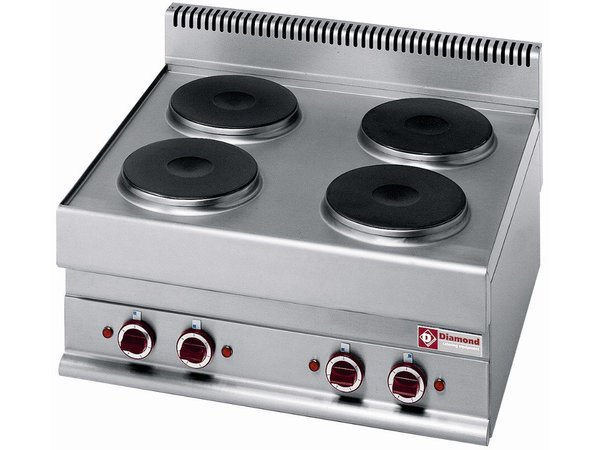 Diamond Electric stove | Stainless steel | 2.6 kw | 4 Pits | Tabletop | 400V