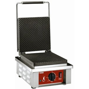 Diamond Waffle iron for Blades Ice cream cones - with adjustable legs - 305x40x (h) 230mm - 1.6KW
