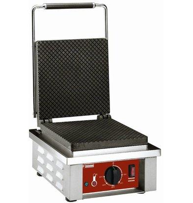 Diamond Wafelijzer voor Bladen IJshoorntjes - met Regelbare Poten - 305x40x(h)230mm - 1.6KW