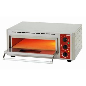 Diamond Pizza Oven Enkel Elektrisch | Pizza Ø430mm | 3kW | 670x580x(H)270mm