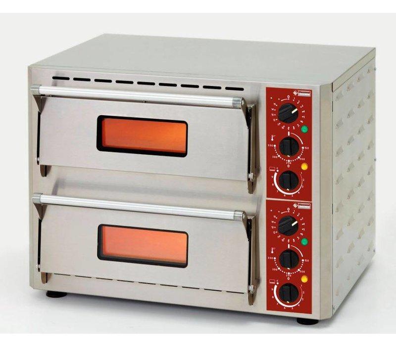 Diamond Pizza-Ofen Doppel Electric   SS   Pizza Ø43cm   670x580x (H) 500mm
