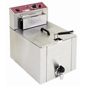 Diamond Elektrische Friteuse | 12 Liter | Met Aftapkraan | Koudezone | 7,5kW | 400V | 325x430x(H)510mm