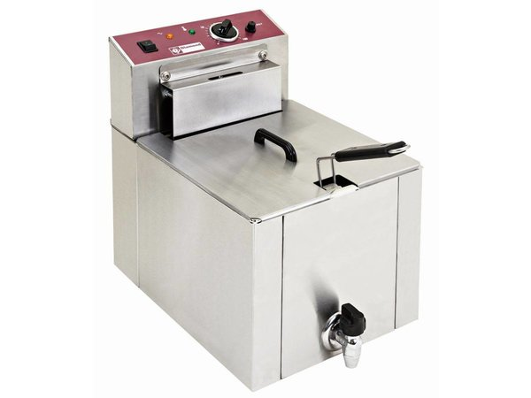 Diamond Electric Fryer | 12 Liter | With drain valve | Cold Zone | 7.5kW | 400V | 325x430x (H) 510mm