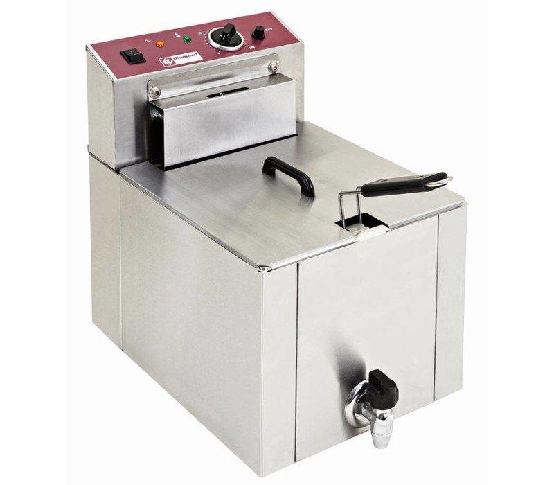 Diamond Fritteuse | 12 Liter | Mit Ablassventil | Kalte Zone | 7,5 kW | 400V | 325x430x (H) 510 mm