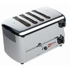 Diamond 4 Cuts Toaster Professional | Silver - Timer mit akustischem Alarm - 36x22x (H) 21cm - 2300W