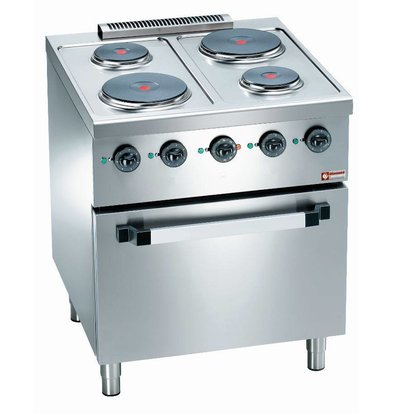 Diamond 4 burner stove + Electric Oven 2/1 GN | 560x630x (H) 295mm
