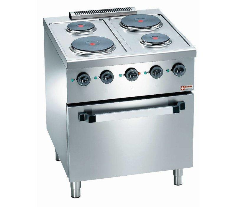 Diamond Kookfornuis 4 pits +  Elektrische Oven 2/1 GN | 560x630x(H)295mm
