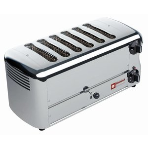 Diamond 6 Cuts Toaster Professional | Silver - Timer mit akustischem Alarm - 45,5x22x (H) 21cm - 3300W